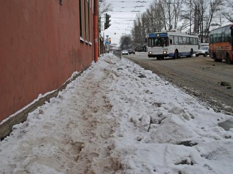 Месево из снега и льда