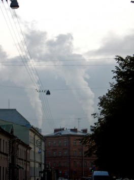 Столбы дыма - башни близнецы