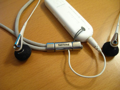 Плеер Samsung YP-U5Q с наушникамии Philips she7600