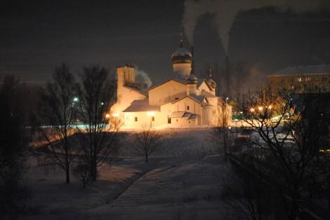 Церковь на берегу Псковы