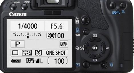 Интерфейс Canon 450d