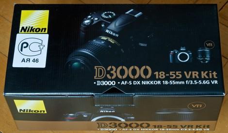 Упаковка Nikon d3000