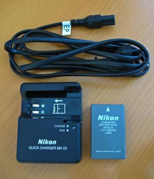 Аккумулятор и зарядное устройство для Nikon d3000