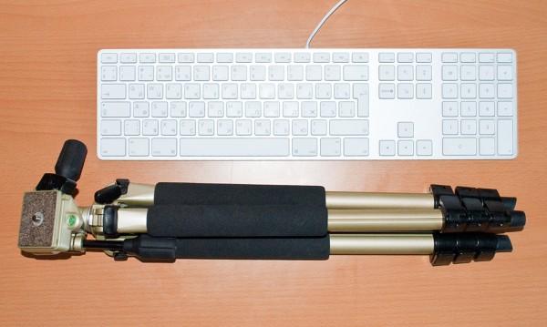 Сравнение длинны штатива с Apple Keyboard