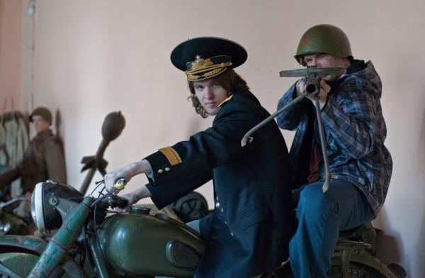 Кузьма и Константин на мотоцикле