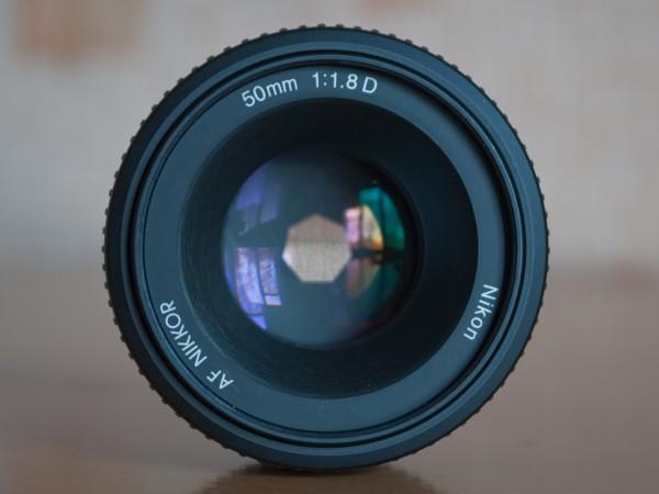 Диафрагма f/5.6 на Nikon 50mm f/1.8D AF Nikkor