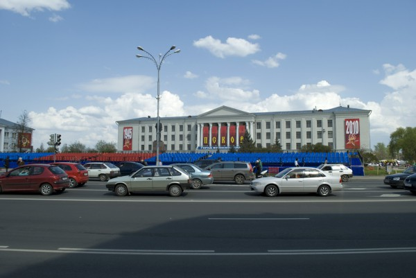 Трибуны на площади Ленина