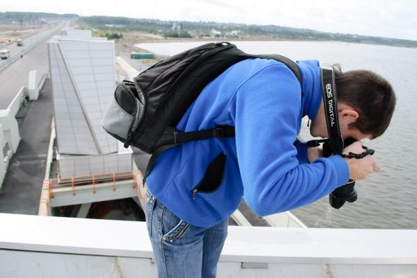 Фотографирование стоя на башне