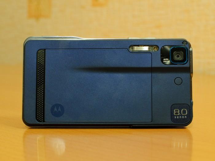 Motorola Milestone xt720 - задняя сторона