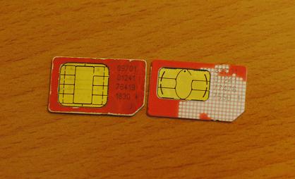 Слевая старая симка 3.3V, справа новая на 1.8V