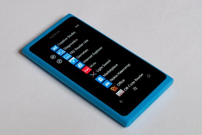Список приложений в Nokia Lumia 800
