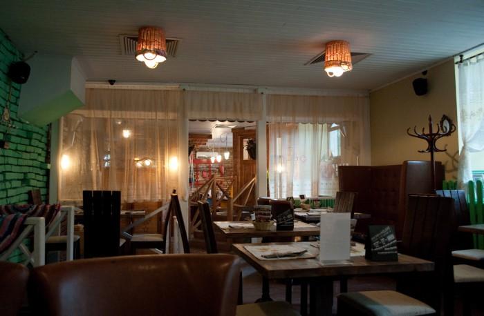 Кафе Дача внутри