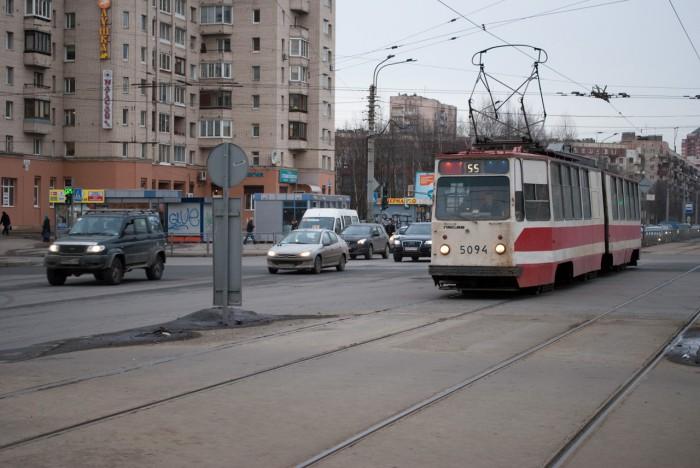 55 трамвай