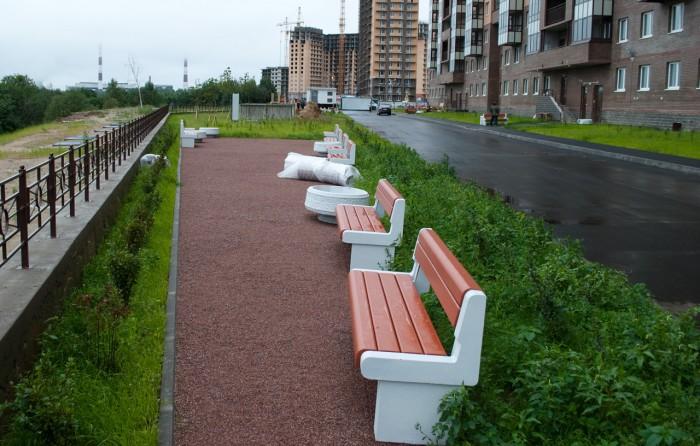 Пятачек со скамейками