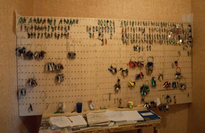 Доска с ключами