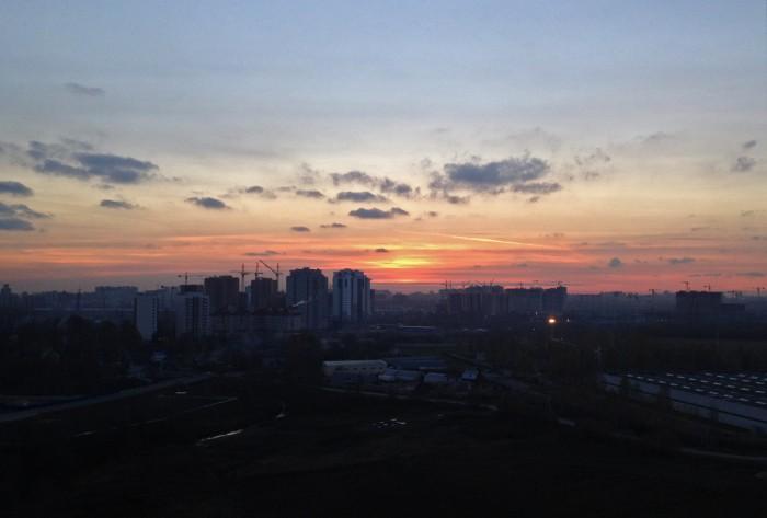 Закат из нашего окна