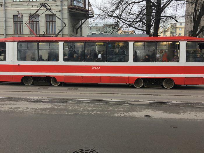 Запотевший трамвай