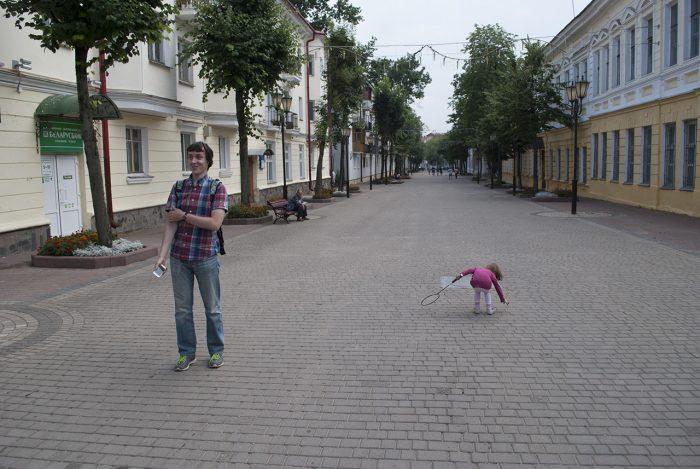 Пешеходная улица в Витебске