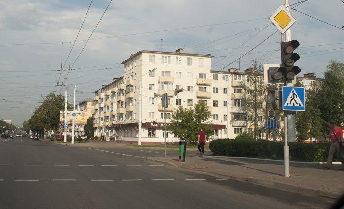 Пунктирный пешеходный переход в Витебске