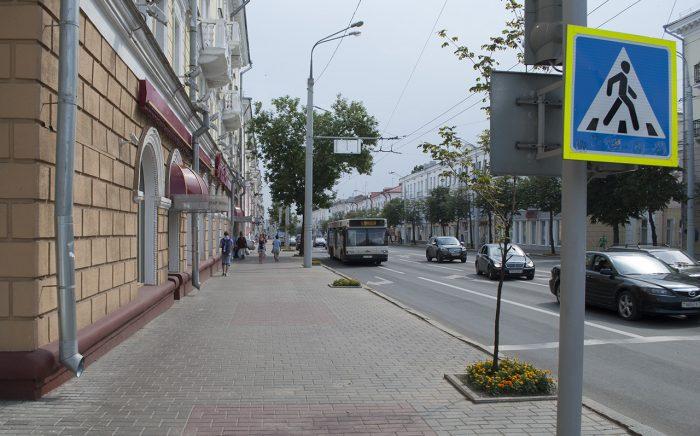 Тротуар в Витебске