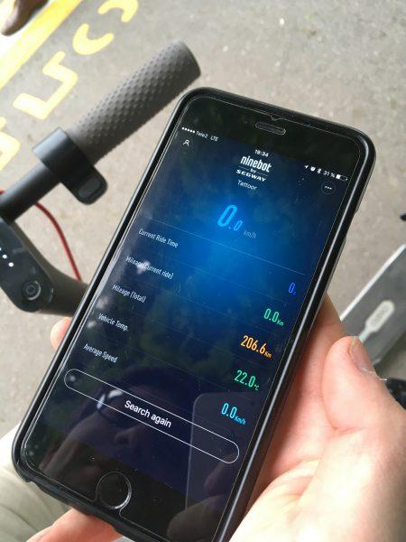 Программа на iPhone для Xiaomi Mijia Scooter