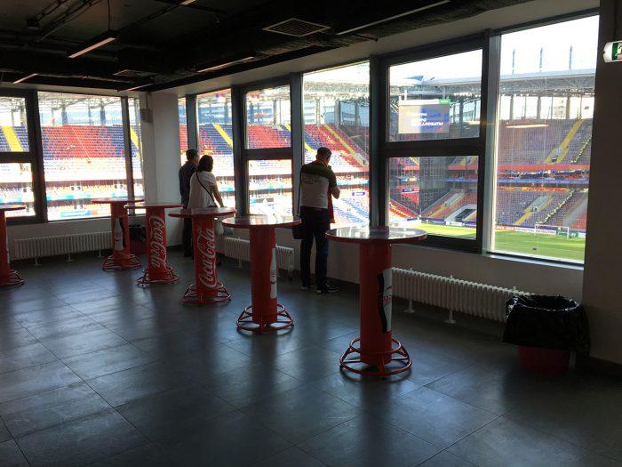 Вид с крытого футкорта на арене ЦСКА