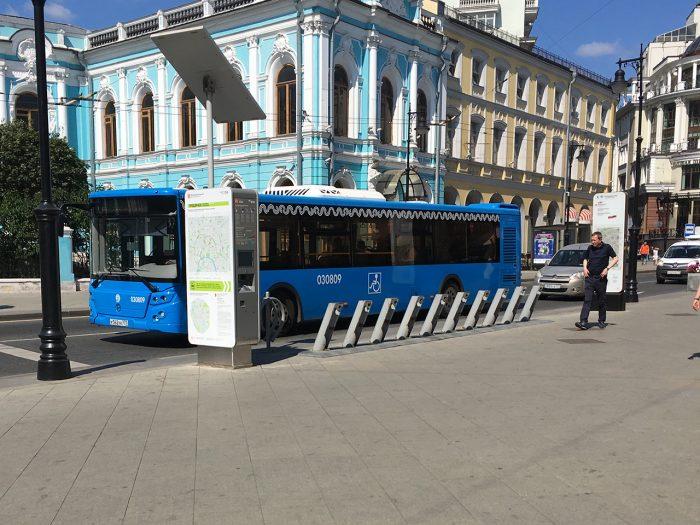 Пустой пункт велопроката в Москве