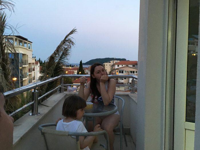 Вид с балкона villa lazovic