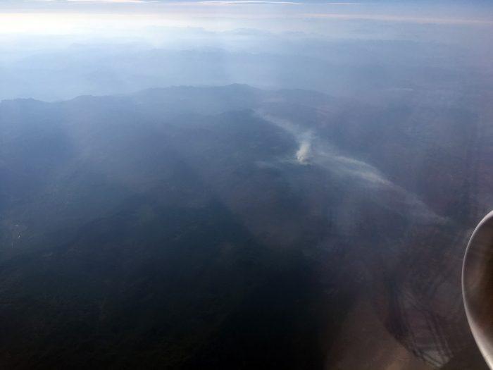 Дым от лесных пожаров в Черногории