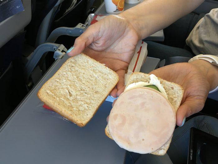 Булка для бутерброда от авиакомпании Россия
