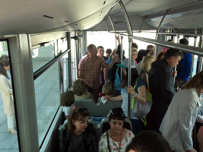 В автобусе до самолёта в Пулково
