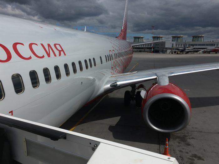 Крыло и хвост самолёта boeing 737-800