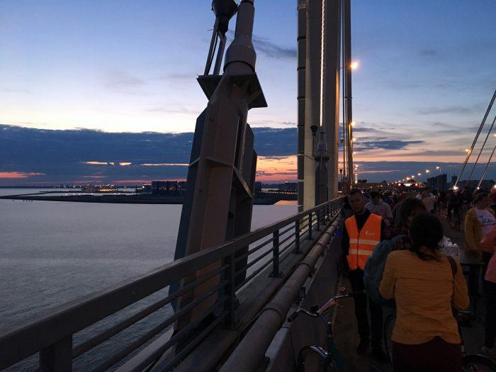 Вид на намыв с моста ЗСД