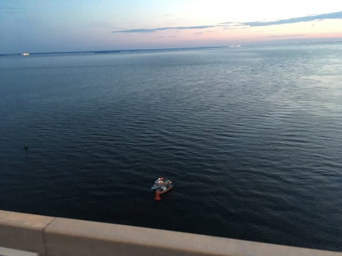 Вид на залив с моста ЗСД