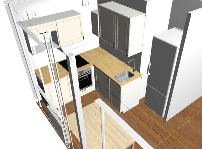 план кухни в планировщике