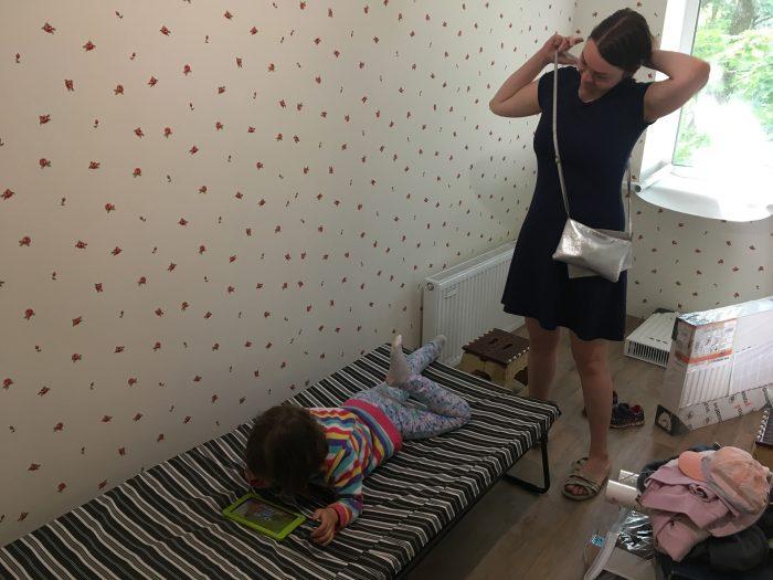 детская в процессе ремонта