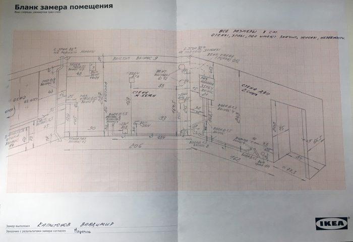 план помещения для кухни в икее