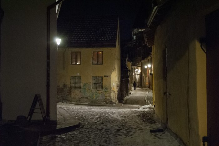 заброшенный старый город в таллине