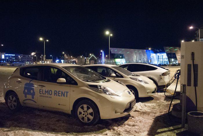 электромобили в порту Таллина