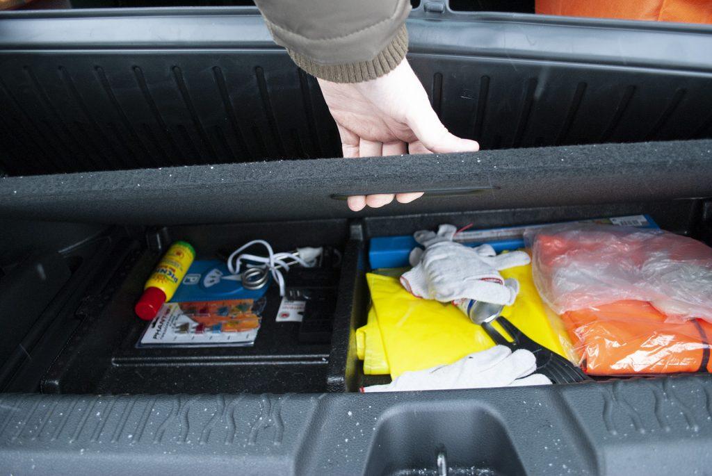 органайзер под полом багажника
