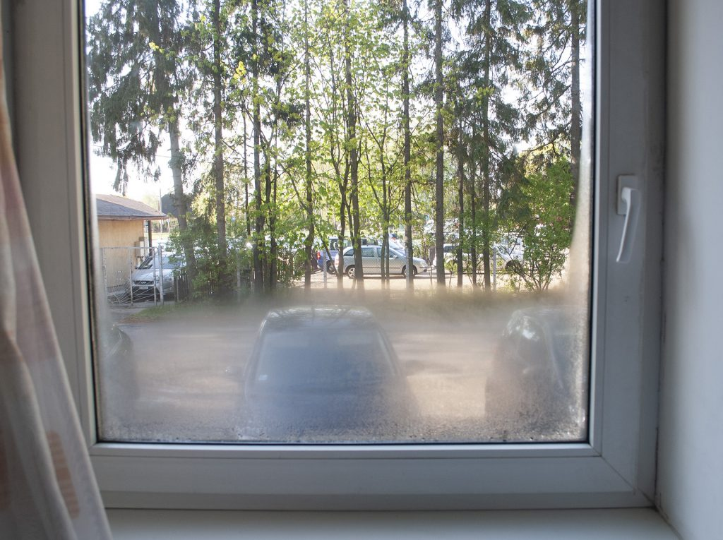 Вид из окна улучшенного номера Spare Hotel