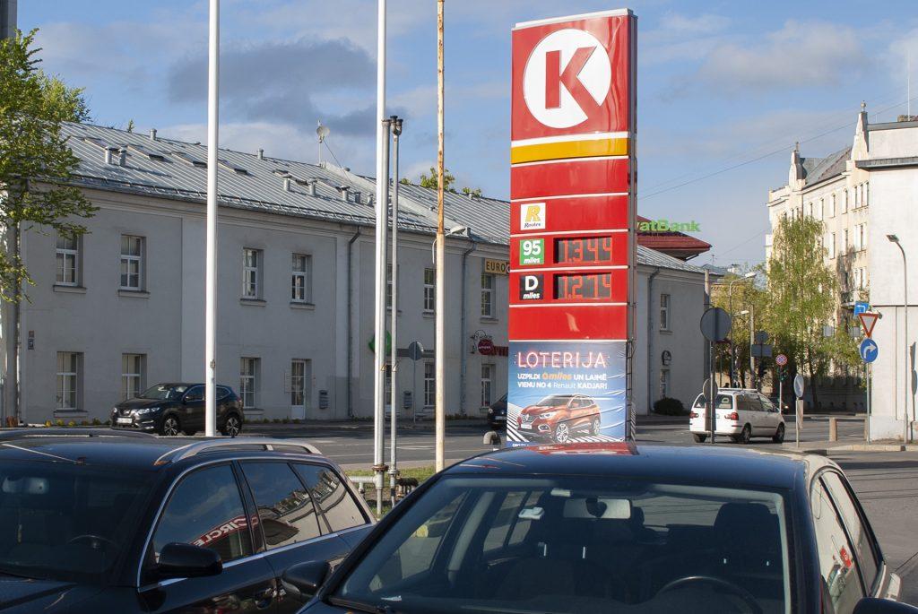 цены на бензин в Латвии