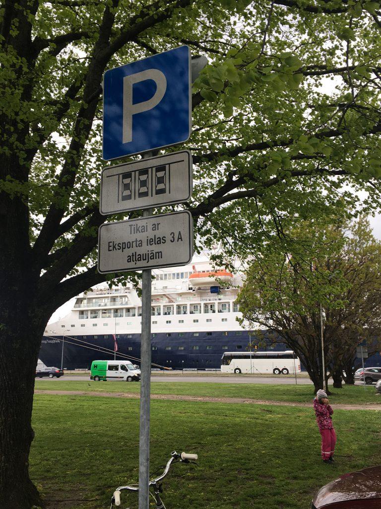 Рига бесплатная парковка с ограничениями