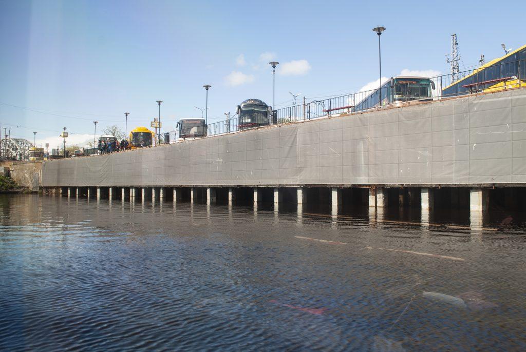 Автовокзал Риги с воды