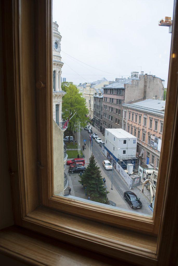 Вид из окна в музее Яна Розенталя