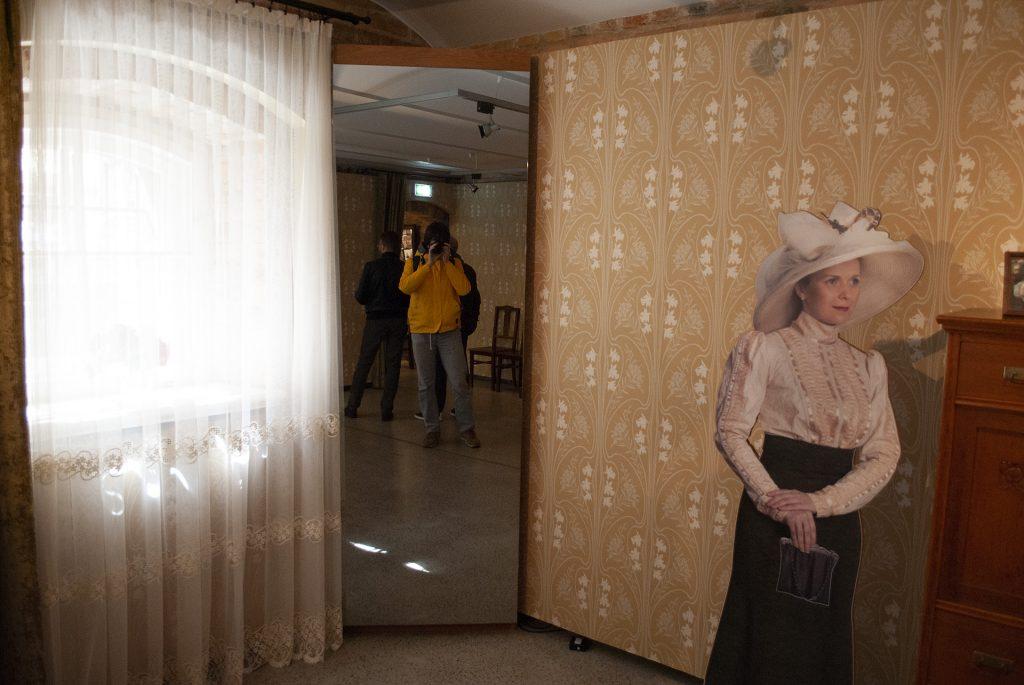 Интерактивное зеркало в музее Югендштиля