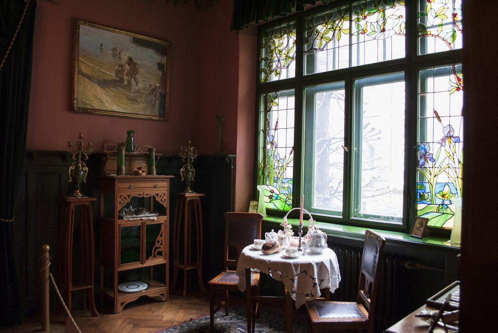 Интерьеры в музее югендштиля в Риге