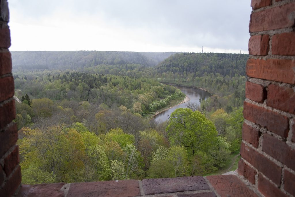 Вид с башни турайдского замка