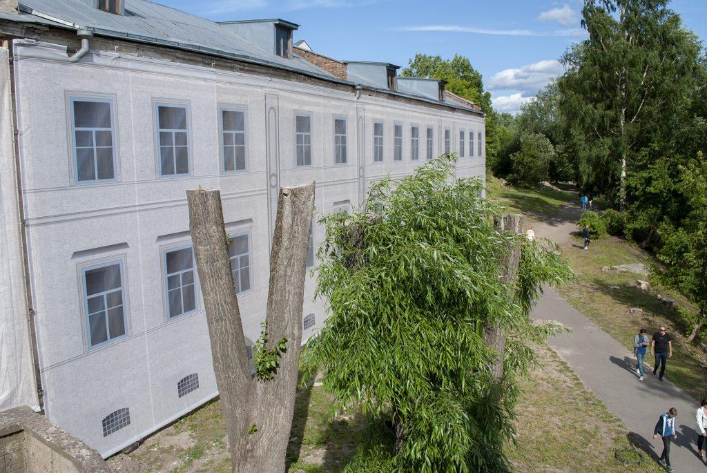 кронированые деревья у дома сафьянщикова