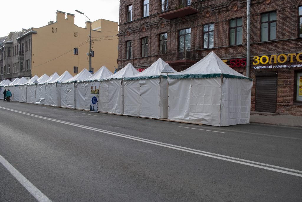 закрытые палатки ганзейских дней